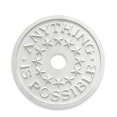"""Marie Ricci Collection™ """"ANYTHING IS POSSIBLE"""" Ceiling Medallion in White - BedBathandBeyond.com"""