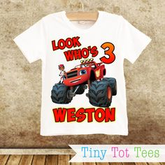 Blaze and the Monster Machines T-shirt PERSONALIZED by TinyTotTees
