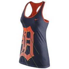 Nike Detroit Tigers Women's Navy Blue Racerback Performance Tank Top
