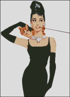 AUDREY HEPBURN cross stitch pattern No.248