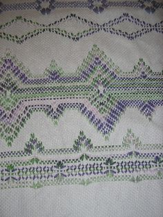 Lavender Swedish Weaving Blanket by NeenersWeaving on Etsy, $110.00