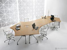Design multiple workstation for open-space - EGO by Della Rovere Ricerca e Sviluppo - Della Rovere