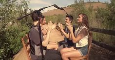 The Most Epic Game of Patty-Cake Ever.  These are the super talented kids in the video: Sam Tsui, Alex G, Kurt Schneider and Alyson Stoner.