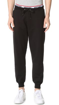MOSCHINO Cotton Fleece Joggers. #moschino #cloth #joggers