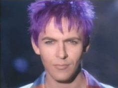 Nick Rhodes, Violet Hair, Too Much Information video Violet Hair, Lilac Hair, Great Bands, Cool Bands, Nick Rhodes, Amazing Songs, Band Pictures, John Taylor, Secret Crush