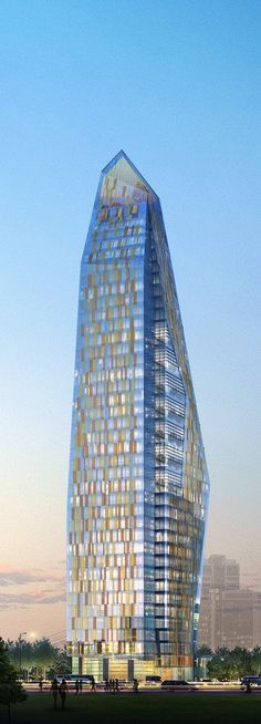 Construction is now underway on Rönesans, or Renaissance Tower, Istanbul, Turkey by FXFOWLE Architects :: 42 floors  Visit www.chronos-studeos.com/blog to enjoy architecture features, tips and tricks, and commissioned 3D visualizations by the Chronos Studeos company of architects and CG artists