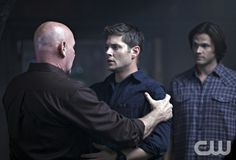 """""""Exile on Main St."""" - Mitch Pileggi as Samuel Campbell, Jensen Ackles as Dean, Jared Padalecki as Sam in SUPERNATURAL on The CW. Photo: Michael Courtney/The CW ©2010 The CW Network, LLC. All Rights Reserved."""
