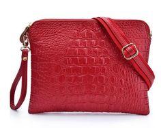 Embossed Alligator PU Leather Shoulder Bag - KIMLUD.COM