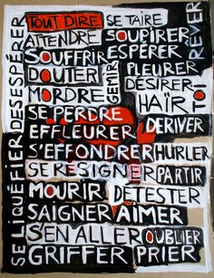 Tout dire, se taire - peinture 72x95cm Dire, My Works, Collage, Coding, Photography, Paint, Collages, Collage Art, Programming