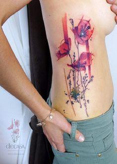 poppy flower tattoo 49 - 70 Poppy Flower Tattoo Ideas
