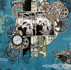 Steam+Punk+Inspired+Somewhere+in+Time+Collection+from+Bo+Bunny - Scrapbook.com