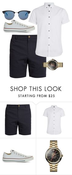 """""""Chino Shorts: Look 2"""" by duesouthstyle on Polyvore featuring Topman, Converse, Vivienne Westwood, Yves Saint Laurent, men's fashion and menswear"""