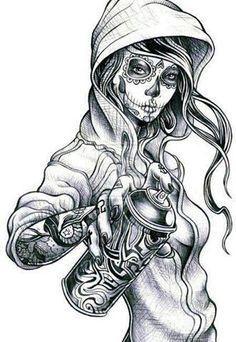 Gypsy tattoo design