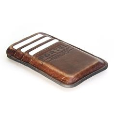 Aged leather iPhone 5 pocket