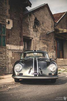 1957 Porsche 356 AT2 by Mathieu Bonnevie Photography. More cars here.