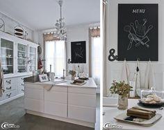 Ikea kitchen center island dresser and Flamingo, ampersand cut in slate