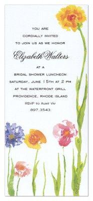Wildflowers Invitation SAMPLE