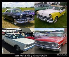 How much difference did 1 year make in 50s car style? How about 10 years? Full MSCC story: http://mystarcollectorcar.com/the-1955-and-65-fords-years-…/ #55Ford65Ford