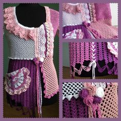Фотография Crochet Necklace, Ruffle Blouse, Women, Knitting, Fashion, Scrappy Quilts, Blouses, Moda, Tricot
