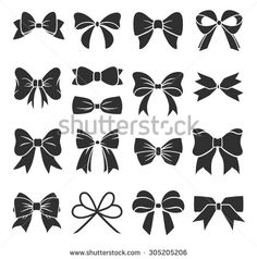 Find Set Graphical Decorative Bows Vector Sillouettes stock images in HD and millions of other royalty-free stock photos, illustrations and vectors in the Shutterstock collection. Thousands of new, high-quality pictures added every day. Bow Clipart, Bow Vector, Bow Tattoo Designs, Design Tattoo, Black Tattoos, Small Tattoos, Bow Tattoos, Bow Tattoo Thigh, Garter Tattoos
