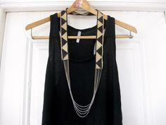 DIY Fiona Paxton Necklace. See inspiration photos at link and because you are using trim, the ways to customize this necklace are endless. Lots of good advice and detailed tutorial from Thanks, I Made It here.