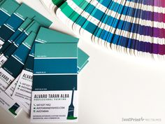 Custom Design Colour Swatches Business Card for Professional Painter. Unique   Creative   Memorable...  www.sweetprint.ca
