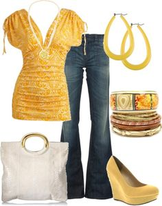 Ok, So Blonde Hair May Not Work So Well With The Yellow, But The Outfit Is Still Pretty Cute.