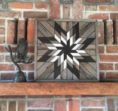 Reclaimed wood wall art - Lone Star Twist - Natural wood mosaic art Reclaimed wood wall art - Lone Star Twist - Rustic Barn Star by PaintedPonyBySandy on Etsy Reclaimed Wood Wall Art, Wooden Wall Art, Diy Wall Art, Wood Art, Salvaged Wood, Barn Quilt Designs, Barn Quilt Patterns, Wood Mosaic, Mosaic Art
