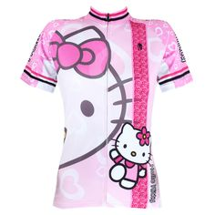 Women Anime  Pink Hello Kitty   Cycling clothes Short-sleeved Sportswear Bike cycling jersey - http://www.aliexpress.com/item/Women-Anime-Pink-Hello-Kitty-Cycling-clothes-Short-sleeved-Sportswear-Bike-cycling-jersey/32355762573.html