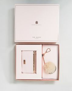 a4f5e138077b Ted Baker Zip Top Card Holder   Faux Fur Pom Gift Set