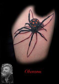 #tattoostudiorosenheim #chris #forlifecolor #tattoo #ink #3d #spinne #schwarzewitwe #3dtattoo #animal #tattoorosenheim #christattoo #realistic #spider #instatattoo