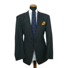 Men s Loro Piana Blazer 44L by Daniel Hechter 100 s Wool Grey Suit Jacket 106 EU