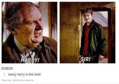 Sassy Harry at his best IN THE MOVIES. Book Harry had much sassier lines.