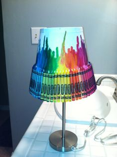 lamp i made for my desk at school. love it :)