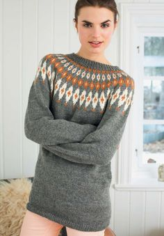 Bilderesultat for kofter til dame Knitting Designs, Knitting Patterns, Fair Isle Pullover, Icelandic Sweaters, Fair Isle Pattern, Snowflake Pattern, Fair Isle Knitting, Vintage Knitting, Sweater Cardigan