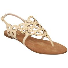 Dune Jagger D Studded Patent Leather Toe Post Sandals, Nude ($34) ❤ liked on Polyvore