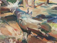 Fallen Tree, Autumn Trees, Landscapes, October, Painting, Art, Fall Trees, Paisajes, Art Background