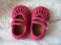 #Pink two strap baby shoes