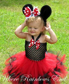 Minnie Mouse Tutu dress sizes 6m 9m. 9-12m by whererainbowsend1