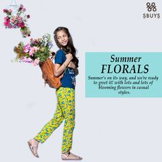 """""""Summer Florals"""" Summer's on its way, and we're ready to greet it!!! Shop Now :- http://www.sbuys.in #sbuys #kidswear #stylediva #latesttrends #fashionistas #newcollection #elegant #urbanstylewear #springseason #huesandtints #newarrivals #summers #lifeandstyletips"""