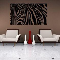 Zebra Stripes Wall Decal Sticker Mural Decor Wall Art