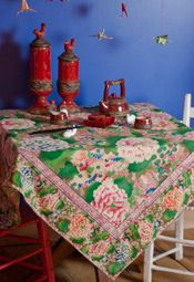 Chinese Flower Paisley Tablecloth