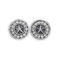 Montana Silversmiths Women's Star Concho Western Earrings