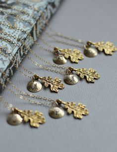 Bridesmaids gift ideal for an autumn wedding....heck on the bridesmaids I love this necklace!