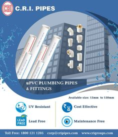 The U-pvc column pipes from CRI pumps enhances the range of pumps & motors with fully loaded automated machines and safety factors. #AgriculturepumpsmanufacturerIndia  #UPVCPipeManufacturers