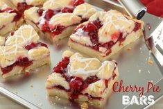 Cherry Pie Bars! Tasty AND Pretty! :http://recipescool.com/cherry-pie-bars-tasty-pretty/