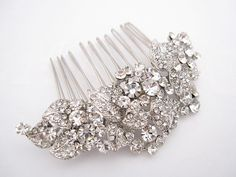 Bridal hair comb rhinestonewedding combcrystal bridal by Amoretto, $49.00