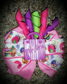Check out this item in my Etsy shop https://www.etsy.com/listing/241402999/shopkins-shopping-bag-explosion-hair-bow