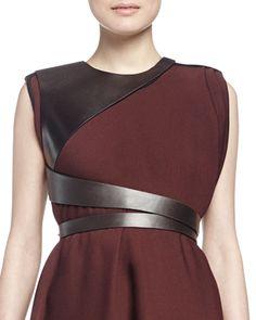 Lanvin leather harness belt, 2015