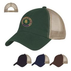 ebe636e6104 Washed Cotton Mesh Back Cap with 100% Washed Cotton Twill Crown. 6 Panel